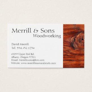 Gabinetes de encargo de la carpintería tarjeta de visita