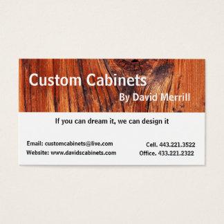 Gabinetes de encargo y tarjeta de visita de la