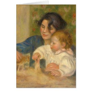 Gabrielle Renard y hijo pequeño, Jean por Renoir Tarjeta De Felicitación