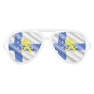 Gafas De Fiesta De Aviador Bandera finlandesa