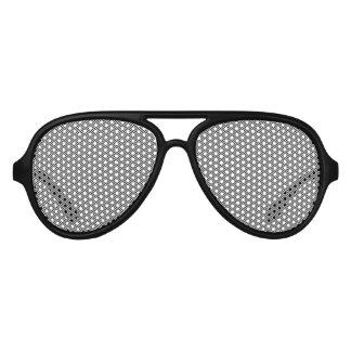 Gafas De Fiesta De Aviador Chevron blanco negro fino moderno raya el modelo