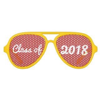 Gafas De Fiesta De Aviador Clase de graduado intrépido rojo de la tipografía
