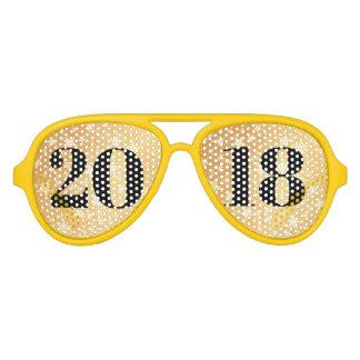 Gafas De Fiesta De Aviador Clase del graduado intrépido 2018 de la tipografía