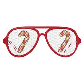 Gafas De Fiesta De Aviador Día de fiesta rojo del bastón de caramelo de la