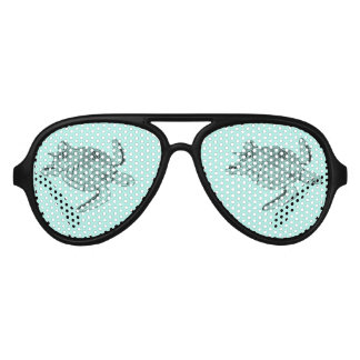 Gafas De Fiesta De Aviador Diseño de Lineart de la tortuga de mar