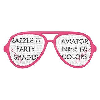 Gafas De Fiesta De Aviador El personalizado personalizó el espacio en blanco