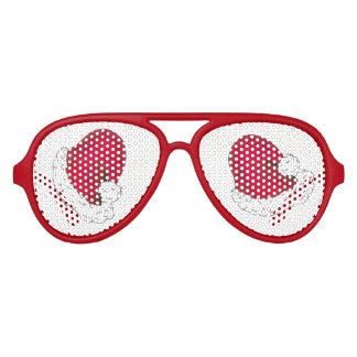 Gafas De Fiesta De Aviador Gorra divertido del día de fiesta del navidad rojo