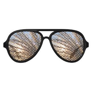 Gafas De Fiesta De Aviador Los rayos ligeros del trigo de oro con una noche