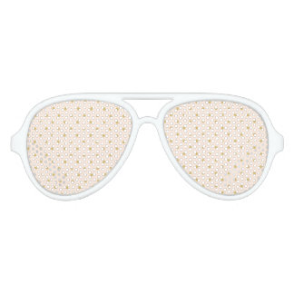Gafas De Fiesta De Aviador Modelo de lunares femenino moderno del rosa y del
