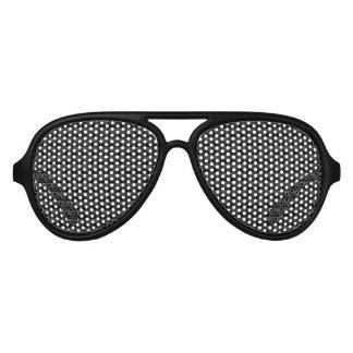 Gafas De Fiesta De Aviador Modelo geométrico moderno de la casilla negra
