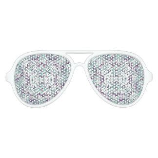 Gafas De Fiesta De Aviador Mosaico moderno del modelo del collage