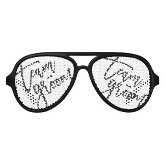 Gafas De Fiesta De Aviador Personalizado del boda de la despedida de soltero