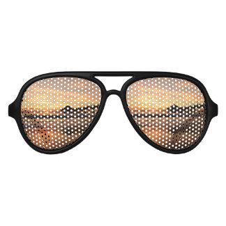 Gafas De Fiesta De Aviador Puesta del sol de la playa del embarcadero