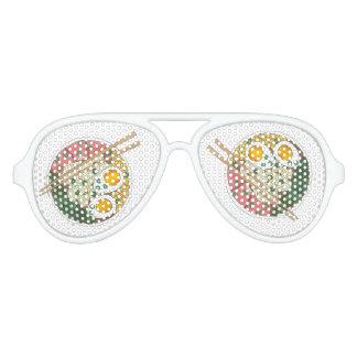 Gafas De Fiesta De Aviador Restaurante japonés Foodie de la comida del cuenco
