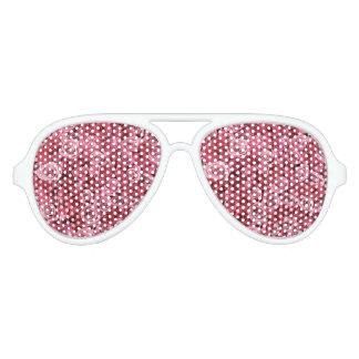 Gafas De Fiesta De Aviador Rosas