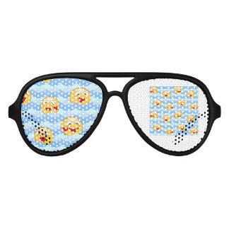 Gafas De Fiesta De Aviador Smiley de la onda