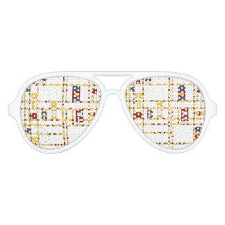Gafas De Fiesta De Aviador Sombras adultas del fiesta del aviador, blancas