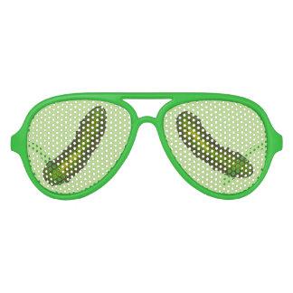 Gafas De Fiesta De Aviador Sombras verdes del fiesta de las salmueras de la