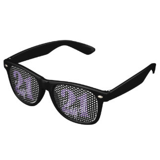 Gafas De Fiesta Retro 21ro Tema legal del fiesta del negro del purpurina