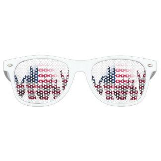 Gafas De Fiesta Retro Bandera americana de los dedos del signo de la paz