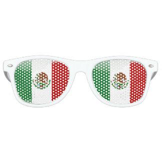 Gafas De Fiesta Retro Bandera brillante de México