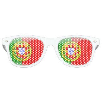 Gafas De Fiesta Retro Bandera brillante de Portugal