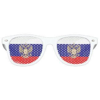 Gafas De Fiesta Retro Bandera brillante rusa