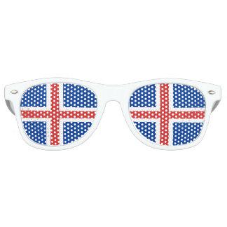 Gafas De Fiesta Retro Bandera de Islandia