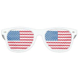 Gafas De Fiesta Retro Barras y estrellas de la bandera de los E.E.U.U.