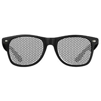 Gafas De Fiesta Retro Chevron blanco negro fino moderno raya el modelo
