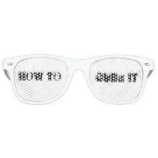 Gafas De Fiesta Retro Cómo cubicarlo vidrios del fiesta