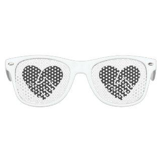 Gafas De Fiesta Retro Corazón negro conectado amor