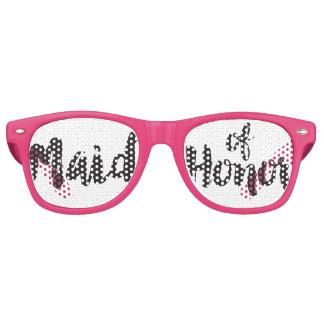 Gafas De Fiesta Retro Criada puesta letras mano del Swag del honor ir de