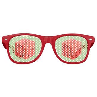 Gafas De Fiesta Retro Cubo rojo dulce fresco original de la comida de la