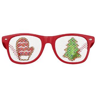 Gafas De Fiesta Retro Día de fiesta festivo de Navidad del árbol de la