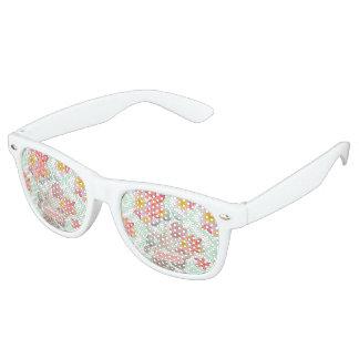 Gafas De Fiesta Retro Diseño geométrico de los seashells tropicales