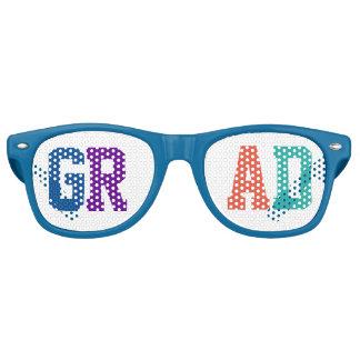 Gafas De Fiesta Retro Diseño individual del graduado colorido
