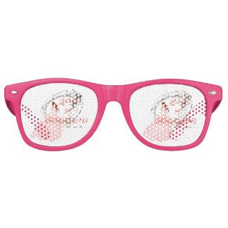 Gafas De Fiesta Retro El AMOR ES ASOMBROSO - novia en vestido rosado