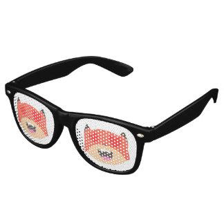 Gafas De Fiesta Retro El corazón observa los vidrios del Fox