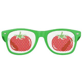 Gafas De Fiesta Retro El fiesta verde y rojo divertido del tomate