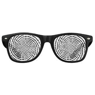 Gafas De Fiesta Retro Elija su espiral de la hipnosis del color de fondo