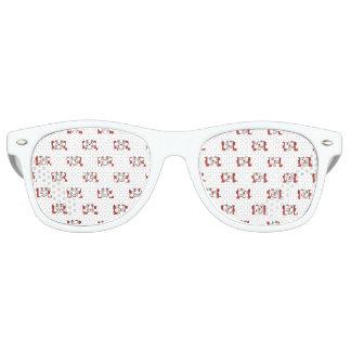Gafas De Fiesta Retro Emoji divertido que ríe hacia fuera el modelo