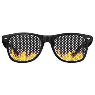 Gafas De Fiesta Retro En el fuego