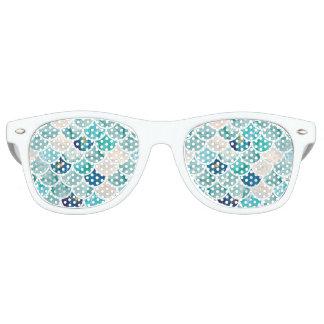 Gafas De Fiesta Retro Escalas de pescados burbujeantes de la sirena del