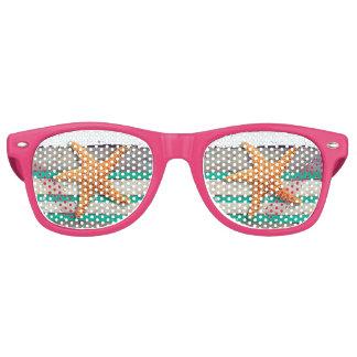 Gafas De Fiesta Retro Estrellas de mar y playa resistida de los tablones