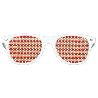 Gafas De Fiesta Retro Falso brillo elegante del oro y modelo rojo de la