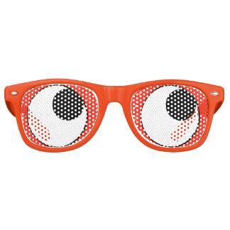 Gafas De Fiesta Retro Fiesta anaranjado de los Googly-Ojos de la
