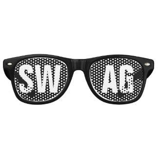 """Gafas De Fiesta Retro Fiesta blanco y negro del """"SWAG"""""""