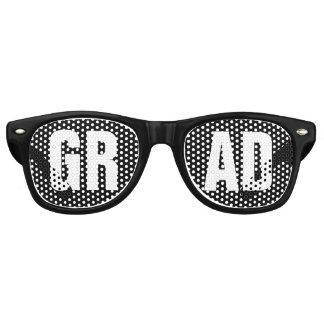 """Gafas De Fiesta Retro Fiesta de graduación blanco y negro del """"GRADUADO"""""""
