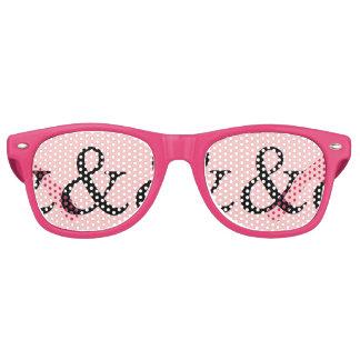 """Gafas De Fiesta Retro Fiesta rosado del signo """"&"""" de la diversión"""
